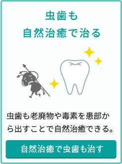 虫歯も自然治癒で治る